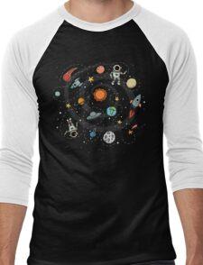 Outer Space Planetary Illustration Men's Baseball ¾ T-Shirt