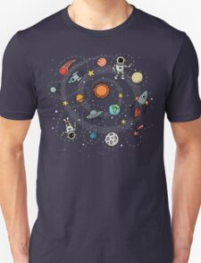 Outer Space Planetary Illustration Unisex T-Shirt