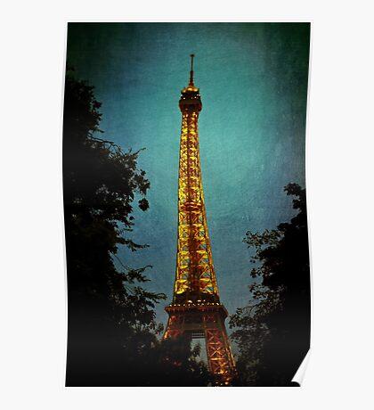 Tour Eiffel at Night Poster