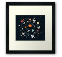 Outer Space Planetary Illustration Framed Print