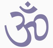 Yoga Ohm Symbol Purple by Carolina Swagger