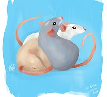 Rattie Trio by nicolealesart