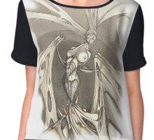 Gothic Demon Asphyxiation  Chiffon Top