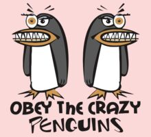 Obey The Crazy Penguins  One Piece - Long Sleeve