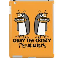 Obey The Crazy Penguins  iPad Case/Skin