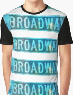 Watercolour Broadway Sign  Graphic T-Shirt
