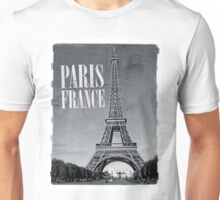 vintage eiffel tower black and white Unisex T-Shirt