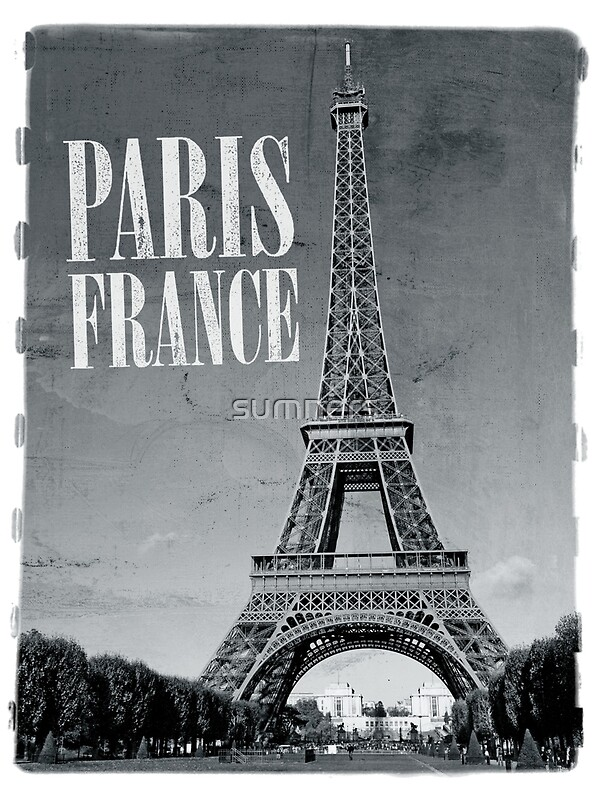 Quot vintage eiffel tower black and white quot posters by sumners