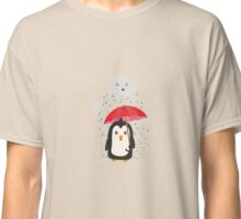 Penguin in the rain   Classic T-Shirt