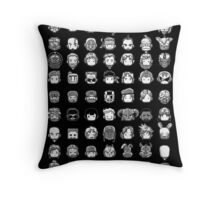 All My Heroes! Throw Pillow