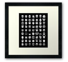 All My Heroes! Framed Print