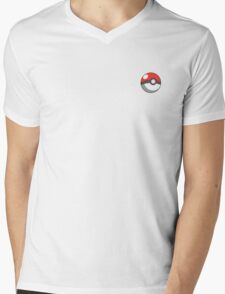 pokeball badge Mens V-Neck T-Shirt