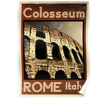 Rome Italy vintage poster Poster