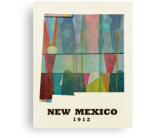new mexico state map Canvas Print