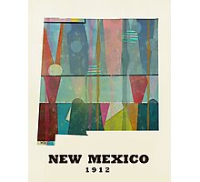 new mexico state map Photographic Print