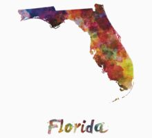 Florida US state in watercolor Baby Tee