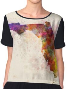 Florida US state in watercolor Chiffon Top