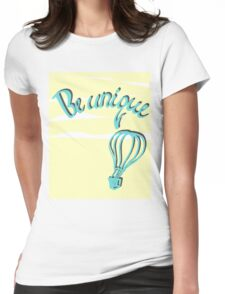 Hand drawn lettering: Be unique.  Womens Fitted T-Shirt