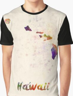 Hawaii US state in watercolor Graphic T-Shirt