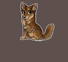 Little Wolf - Brown Unisex T-Shirt