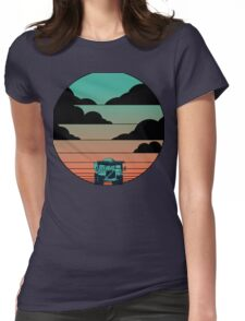 Over High Truck Sunrise Womens Fitted T-Shirt