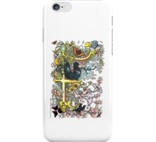 "The Illustrated Alphabet Capital  F  ""Getting personal"" iPhone Case/Skin"