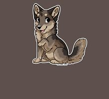 Little Wolf - Grey Brown Unisex T-Shirt