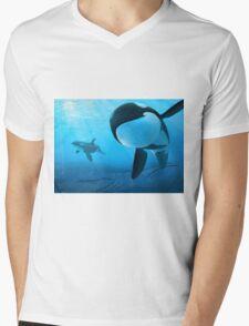 Orcas Mens V-Neck T-Shirt