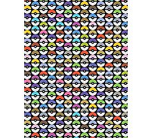 Pokeballs Pattern [BLACK] Photographic Print