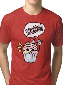 Cupcake - Hello Tri-blend T-Shirt