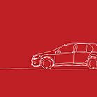 VW Golf - Single Line by douglaswood