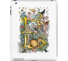"The Illustrated Alphabet Capital  E  ""Getting personal"" iPad Case/Skin"