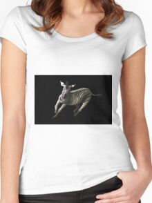 Zebra Cutout Women's Fitted Scoop T-Shirt