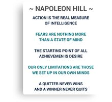 Napoleon Hill Quotes Canvas Print