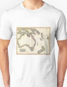 Vintage Map of Australia (1814) Unisex T-Shirt