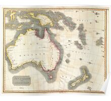 Vintage Map of Australia (1814) Poster