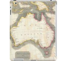 Vintage Map of Australia (1814) iPad Case/Skin