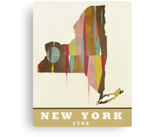new york state map Canvas Print