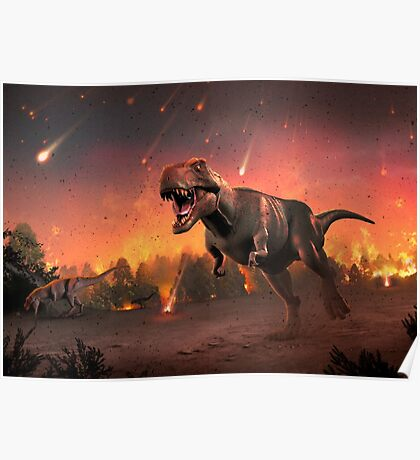 Tyrannosaurus Rex - Fire in the Sky Poster