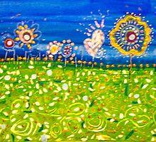 Redreaming Field of Flowers by WENDY BANDURSKI-MILLER