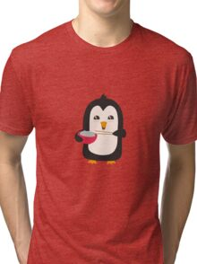 Penguin with rice   Tri-blend T-Shirt