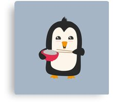 Penguin with rice   Canvas Print
