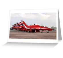The Red Arrows at RIAT 2016 Greeting Card