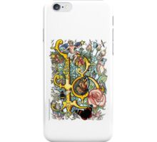 "The Illustrated Alphabet Capital  B  ""Getting personal"" iPhone Case/Skin"