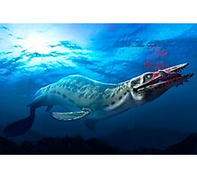 Mosasaur With Prey Photographic Print
