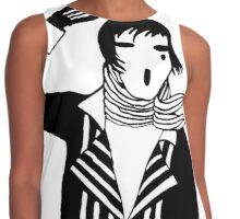 The female Scream, black and white Vector Art Contrast Tank