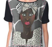African turban lady 22 Chiffon Top