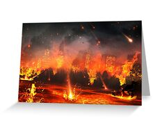 City Under Fire Greeting Card