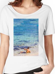 Sexy guy at the beach Women's Relaxed Fit T-Shirt