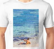 Sexy guy at the beach Unisex T-Shirt